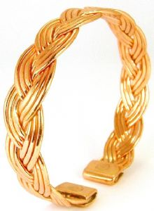 J: Copper Plait Bracelet